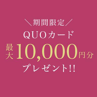 期間限定 クオカード最大10,000円分プレゼント!!